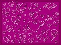 Fundo bonito dos corações do dia de são valentim do amor imagem de stock