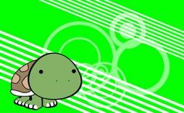 Fundo bonito dos desenhos animados doces da tartaruga do bebê Fotos de Stock