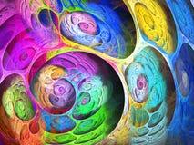 Fundo borbulhante do fractal do redemoinho colorido Composição artística brilhante abstrata do movimento Bio teste padrão dinâmic imagens de stock