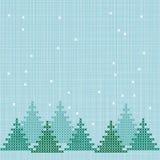 Fundo bordado do inverno Fotografia de Stock