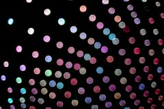 Fundo borrado das luzes com círculos coloridos fotografia de stock royalty free