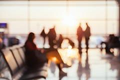 Fundo borrado do aeroporto fotografia de stock royalty free