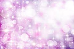Fundo borrado festivo em tons lilás cor-de-rosa delicados, bokeh, Fotografia de Stock Royalty Free