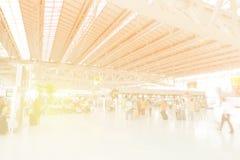 Fundo borrado no aeroporto Fotografia de Stock