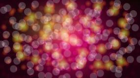 Fundo borrado roxo do sumário com efeito do bokeh Incandescência bonita colorido festiva brilhante mágica brilhante com pontos cl ilustração royalty free