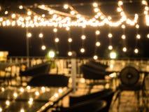 Fundo borrado sumário de luzes resturant Fotos de Stock Royalty Free