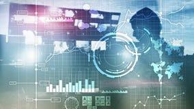 Fundo borrado transparente do painel da análise de KPI do indicador de desempenho chave do BI da inteligência empresarial imagem de stock royalty free