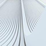 Fundo branco abstrato arquitetónico baseado em linhas arredondadas expulsas Fotos de Stock