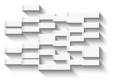 Fundo branco abstrato com retângulos de incandescência para o negócio c ilustração stock