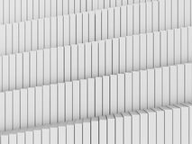 Fundo branco abstrato da arquitetura do teste padrão dos cubos Imagens de Stock Royalty Free