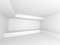 Fundo branco abstrato da arquitetura Sala vazia Interi moderno Fotos de Stock Royalty Free