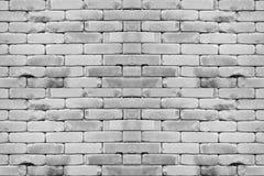 Fundo branco abstrato da parede de tijolo Fotos de Stock Royalty Free