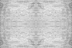Fundo branco abstrato da parede de tijolo Foto de Stock Royalty Free