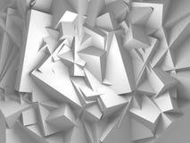 Fundo branco abstrato da parede dos cubos Fotografia de Stock