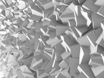 Fundo branco abstrato da parede dos cubos Fotos de Stock