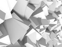 Fundo branco abstrato da parede dos cubos Fotos de Stock Royalty Free