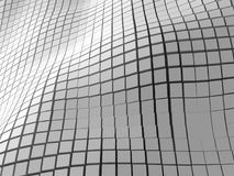Fundo branco abstrato da parede dos cubos Imagem de Stock Royalty Free