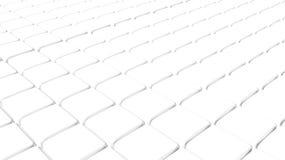 Fundo branco abstrato do cubo Foto de Stock