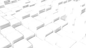 Fundo branco abstrato do cubo Imagens de Stock Royalty Free