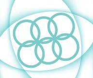 Fundo branco abstrato do tema dos esportes com curvas de turquesa ilustração royalty free
