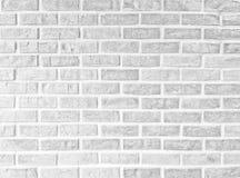 Fundo branco abstrato do teste padrão da textura da parede de tijolo Fotos de Stock