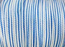 Fundo branco-azul da corda - textura Foto de Stock
