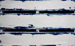 fundo Branco-azul das pranchas pintadas foto de stock