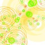 Fundo branco com círculos ilustração do vetor