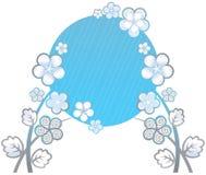Fundo branco com flores decorativas Fotos de Stock