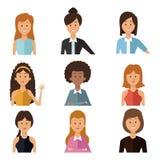 Fundo branco com mulheres dos povos do grupo do corpo do grupo as meias ilustração royalty free