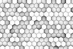 Fundo branco com relevo dos hexágonos Fotos de Stock Royalty Free