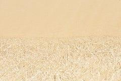 Fundo branco da areia Foto de Stock