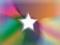 Fundo branco da estrela Foto de Stock Royalty Free