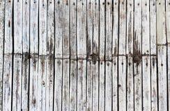 Fundo branco da madeira do vintage Fotos de Stock