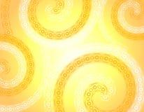Fundo branco da mola do ouro macio Wispy ilustração stock