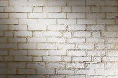 Fundo branco da parede de tijolo Foto de Stock Royalty Free