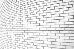 Fundo branco da parede de tijolo da curva do grunge Imagens de Stock