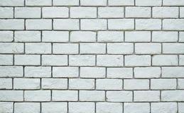 Fundo branco da parede de tijolo do grunge Foto de Stock