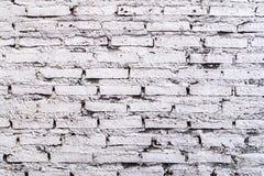 Fundo branco da parede de tijolo na sala rural Gray Bricks Wall Pattern branco Ideia do fundo imagens de stock royalty free
