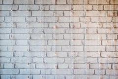 Fundo branco da textura da parede de tijolo, projeto velho do material contínuo Fotografia de Stock