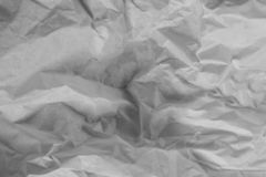 Fundo branco da textura Papel amarrotado fotografia de stock