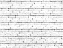 Fundo branco da textura da parede de tijolo imagem de stock royalty free