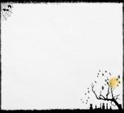 Fundo branco de Halloween ilustração do vetor