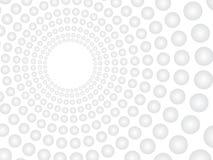 Fundo branco do vetor abstrato com teste padrão cinzento das esferas Concentrado ilustração royalty free
