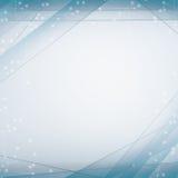 Fundo branco do whit abstrato azul e linhas lisas ovals do whit Imagens de Stock