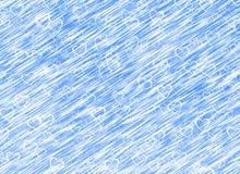 Fundo branco dos corações em fundos de um vento do azul. Textura do amor Fotos de Stock Royalty Free