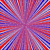 Fundo branco e azul vermelho dos raios com estrelas ilustração do vetor