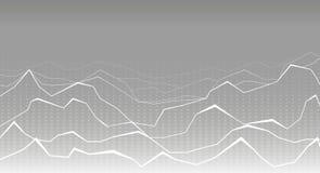 Fundo branco e cinzento futurista Imagens de Stock