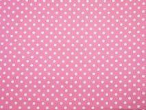 Fundo branco e cor-de-rosa do às bolinhas Imagens de Stock Royalty Free
