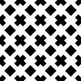 Fundo branco e teste padrão repeted preto Imagem de Stock